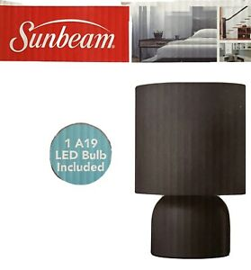 New Sunbeam Table Desk Student College Lamp Black Shade Metal Base with LED Bulb