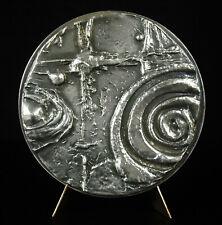 Médaille Karlheinz Stockhausen Compositeur musique électroacoustique 460g 84mm