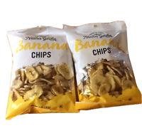 Dried-Banana Chips, Nature's Garden, 2 Bags 5oz Pkg, Exp 2/ 21, Delicious