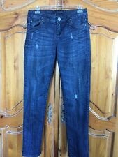 KUT from the Kloth Straight Jeans Distressed Dark Wash Size 2 EUC