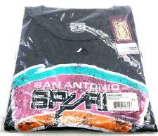 NBA San Antonio Spurs Short Sleeved Pieced Shoulder Tee, 3X, Charcoal/Black