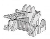 Fine Molds WA23 1/700 scale Type 96 25mm AA Gun Triple Mount Plastic Model kit