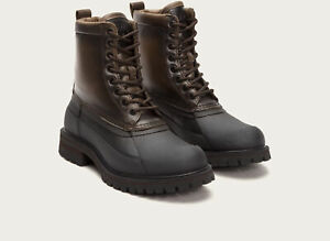 Men's Frye WaterProof Boots Alaska Lace Up Shearling Wool Stone 86161 STC