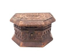 Vintage Beautiful Handmade Wooden - Box - Handicraft Jewellery Storage Box
