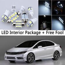 6X Bulb Car LED Interior Lights Package kit For 1996-2000 Honda Civic White NQ