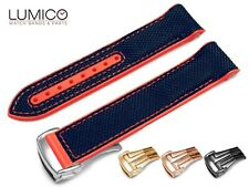 For 20mm 22mm OMEGA SeaMaster Planet RED NAVY BLUE Rubber Strap Watch Band Clasp