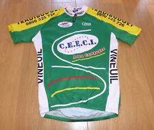 """COLORFUL VINTAGE VINEUIL DIFFU SPORT CEECI GREEN  CYCLING JERSEY, 42"""" CHEST"""