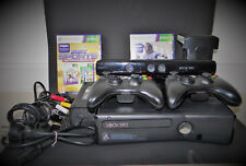 XBOX 360 SLIM 500 GB BUNDLE WITH KINECT & KINECT STAND + 2 CONTROLLERS & 2 GAMES