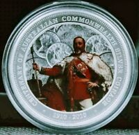 2010 Australian King Edward VII Colorized 1oz .999 Proof Silver Coin - Box & COA