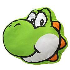 """Super Mario Yoshi Face Pillow 11"""" Plush Toy"""