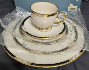 LENOX 5 Piece Place Setting HANCOCK GOLD PRESIDENTS COLLECTION New In Box RARE