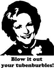 Rose Nylund vinyl decal bumper sticker Betty White The Golden Girls tv show