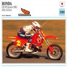 Fiche Photo Moto Japon Japan HONDA CR 500 Japauto HRC 1989 Edit Edito Service