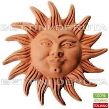 Sole con raggi in terracotta lavorazione artigianale a mano Deruta