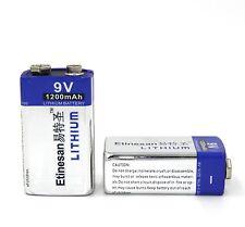 2 X 9V 1200mah li-ion battery,better than Energizer Advanced Lithium Battery