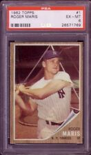1962 TOPPS ROGER MARIS CARD NO:1 RM24 PSA 6 EXMINT CONDITION