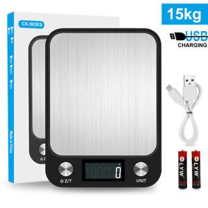 Digitale Küchenwaage Haushaltswaage Küchen Waage Digitalwaage 15kg/1Gramm LCD