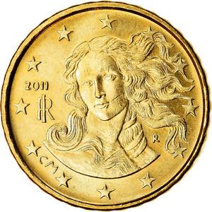 [#766122] Italie, 10 Euro Cent, 2011, SPL, Laiton, KM:247