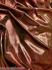 "Copper & Black Spandex Stretch Fabric Metallic Stripe Great Body 62""W"