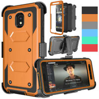 Hybrid Hard Armor Holster Case Clip Cover For Samsung Galaxy J7 2018/Star/Crown