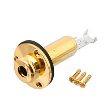 """Guitar End Pin Jack Mono 1/4"""" for Acoustic Guitar Electric Guitar Gold"""