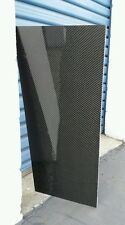 "Real Carbon Fiber Fiberglass Panel Sheet 6""×66""×1/4"" Glossy Both Sides"