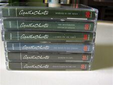 6x AGATHA CHRISTIE Cassettes Macmillan Audio Books Bundle Lot