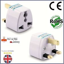 3 PIN PLUG TRAVEL ADAPTOR Universal USA/EU/CHINA/ASIA/AUSTRALIA to UK