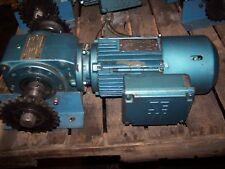 SEW EURODRIVE .75 HP AC ELECTRIC GEAR BRAKE MOTOR 95 RPM OUT DFT80K4BMG1MRZ