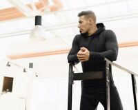 Men's GYM Casual Hoodied Long Sleeve Fitness Workout Hoodie Sweatshirt