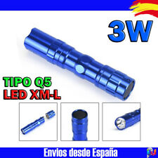 LINTERNA DE BOLSILLO LED XM-L Q5 MINI 3W ALUMINIO COLOR AZUL PILA 1 X AA