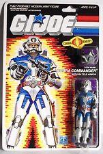 GI JOE COBRA COMMANDER WITH BATTLE ARMOR action figure Hasbro 1986