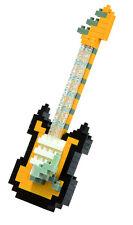 NANOBLOCK Electric Guitar Yellow  Nano Block Micro-Sized Building Blocks NBC-023