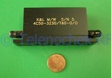 RF IF microwave bandpass filter 3.23 GHz 60 MHz BW data
