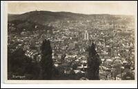 Stuttgart alte Postkarte 1930 gelaufen Gesamtansicht Totale Panorama Blick Stadt
