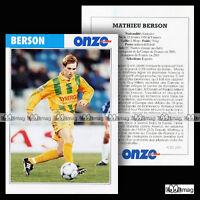 BERSON MATHIEU (FC NANTES) - Fiche Football 2001
