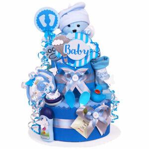 MomsStory - Windeltorte Junge 1.107   Teddy Bär   Baby-Geschenk Geburt Taufe