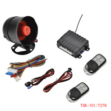 1-Way Anti-theft Alarm Security System Siren with 2 Remote Control 12V for Car