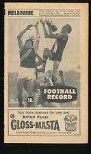1968 VFL Football Record Melbourne v North Melbourne May 4 Demons Kangaroos
