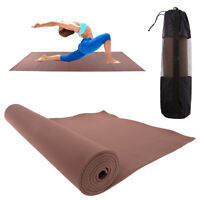 Brown Eva Yoga Mat With Carry Bag Strap 7mm Soft Non-Slip Eco-Friendly Equipment