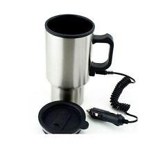 Car & Van Electric Thermos Stainless Steel Coffee & Tea Mug with Adaptor