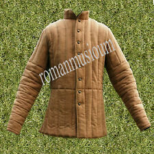 Medieval Reenactment Thick camel  Historical Padded Gambeson Aketon Armour