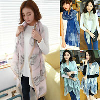 Womens Long Scarf Wrap Ladies Neck Shawl Girls Large Silk Chiffon Scarves Voile