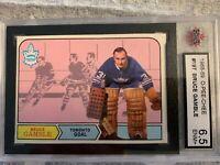 1968-69 O-Pee-Chee BRUCE GAMBLE Toronto Maple Leafs KSA 6.5 ENM # 197