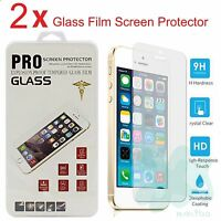 2x Premium Real Tempered Glass Film Screen Protector for Apple iPhone 5 SE 5s