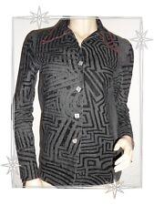 A - Haut Chemise Sur-chemise Fantaisie Gris et Noir  Biche de Bere Taille XS