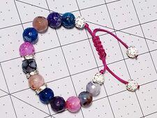 Macrame shamballa adjustable bracelet