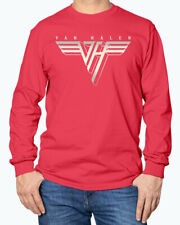 Van Halen Retro Logo #2 Van Halen Red Long Sleeve T-Shirt