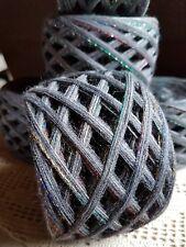 Wollpaket 0,400 kg außergewöhnlich  schöne dunkel Grau Regenbogen farbverlauf