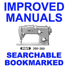 PFAFF 360 260 Factory SERVICE Repair Maintenance Workshop Manual - SEARCHABLE CD